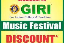 "GIRI's ""MUSIC FESTIVAL"" offer / GIRI's special discount for MUSIC CDs"