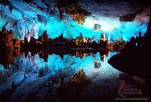 China's Reed Flute Cave / 10 underground rivers and lakes. Deserves a board all its own! / by Andrea Williams