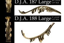 Elegant Brass Leaves / New additions to the exclusive line of brass ornate leaves to accentuate your next project