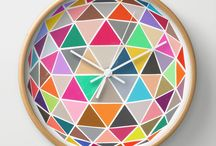 my wall clocks/society6 - garima dhawan / by Garima Dhawan
