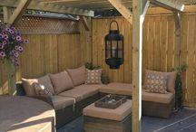 back yard seating