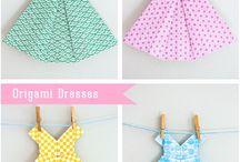 origami paper dresses