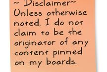 Pin Disclaimer / by Suzanne Ferrell, RS author