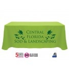 Screen printed tablecloths / Screen Printed Trade Show Tablecloths & Throws. Screen printing is a great option if you are needing printed tablecloths in larger quantities and you only need a one color imprint. Many of our customers choose screen printing for larger volume trade show tablecloths, or for larger scale weddings.