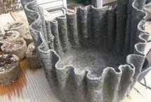 Cimento no jardim