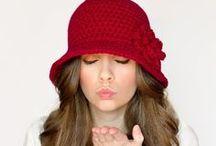 crochet hats & scarf