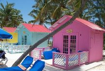 Little Pink Beach House / Inspired by little pink seashells, coral and soft bermuda sand.  www.castawayshall.etsy.com