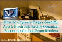 organize recipes / Great tips on organizing and saving all your great recipes!