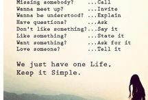 ❤What life is all about❤ / Life quotes