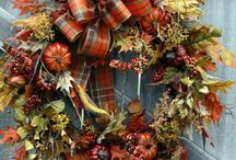 Wreaths / Ideas for fall, chirstmas, spring wreaths ♥