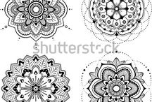 Mandala / mandala, circle, ethnic, indian, chakra, floral, lotus