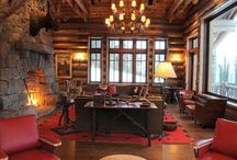 Beautiful Lodge interior / I am a huge fan of really beautiful lodges. Here is the best lodge interior i could find