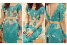 dress blue kebaya