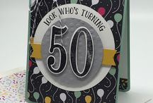 Number of Years / Cards made with the Number of Years stamp set and Large Number Dies from Stampin' Up!