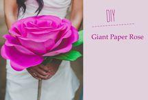grandi rose di carta