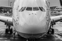 Aircrafts in black and white / BW pictures of Aircrafts,