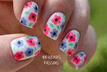 Floral nail art / by Stephanie Michael
