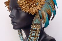 Birds of a feather / feather hair accessories and jewelry