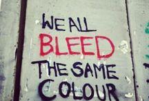 Red street art