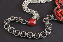 Chained / Jewelry made out of chains and jump rings. Chain Maille, also known as Chain Mail.