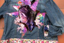 Spijkerjasjes met applicaties van trudie Liebe / Deze jasjes zijn te koop via:   trudie.liebe@gmail.com