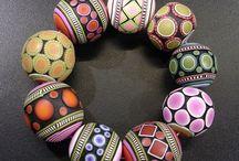 Vivid Bracelets / Vivid colorful bracelets. Polymer clay handmade bracelets.