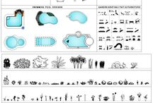 Garden / Landscape design CAD Bundle / Download this GARDEN / LANDSCAPE DESIGN BUNDLE. This CAD Collection includes; Garden seating , picnic tables, benches , hammocks, swing seats, patio furniture, swimming pool designs, fountains, garden tables, outdoor BBQ and jardinières! Potted plants and shrub collection is included which contains
