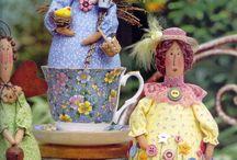 bonecas na xícara