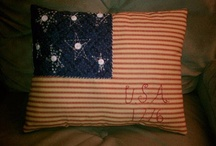 RED WHITE AND BLUE / I love all things americana !