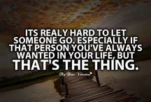 Letting go …