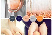 Colour Inspiration :: Navy, Peach & Grey / by Bobbie Pecev