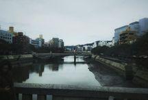 広島市内の川はあり得ないくらいに引きます。 at Hiroshima city #hiroshima #bridge #cloudy #river #landscape #広島写真