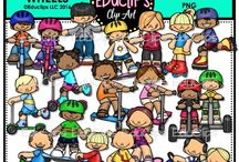 Educlips Sports & Physical Clip Art / Graphics sets based on sports and physical activities.
