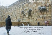 Czciciele przyjść do Ściany Płaczu w deszczu, połysk, a nawet śnieg!