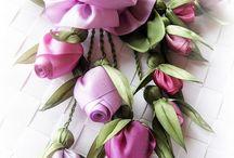 ленты,цветы