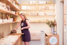 Our shop / Our shop in Centreway Arcade on Collins St, Melbourne, captures the natural qualities of our handmade soaps