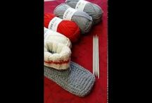 Pantoufle bas de laine