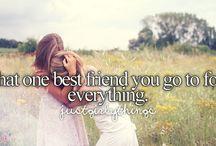 Best friends/Friendship