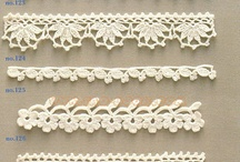 Crochet - Free diagram - Pattern - Doily - Flowers - Irish crochet - Borders - Edges