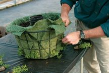 контейнеры,подставки,ящики для цветов / Когда нет места посадить цветы на землю,есть вариант изготовить своими руками подвесные корзины,подставки для цветов,ящики .