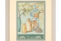 Cross stitch - Seaside and Shells / Ideas to decorate perfect house