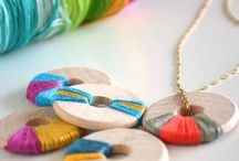 Wooden washers jewellery