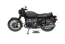 Moto Art / A collection of hand drawn moto art.