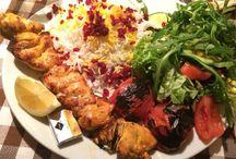 Olivengarten's Menükarte / Restaurant Olivengarten's Menükarte . Persische Vorspeisen und Grillspezialitäten, Schmorgerichte und moderne Neuheiten der persischen Küche