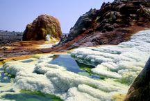 Sulphur springs, Dallol, Ethiopia