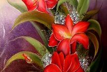 Flor lírios vermelhos