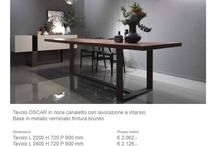 incredibile prezzo!!!! / tavolo in noce canaletto con struttura in ferro  ....