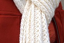 Knitting: scarves and hats