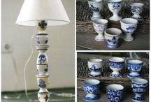 Lampenvoet van eierdopjes / De Hollandse eierdop als onalledaagse lampenvoet. Deze Delftse lamp is een echte eyecatcher in je woonkamer. En zo eenvoudig gemaakt! Klik op http://www.vtwonen.nl/diy/delftse-lamp-maken/ en ga aan de slag.