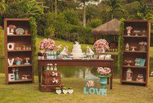 casamento simples, rústico, ao ar livre